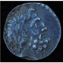 Pisidia Sagalassos (36-25 BC) - AR-Didrachm Obv: Laur.hd. r. of Zeus Rev: Nike advancing l., holding