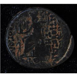 Antioch (48-47 BC) - AE-23  with and without a counter mark of Apollo. Obv: Diad. hd. of  Zeus r. Re