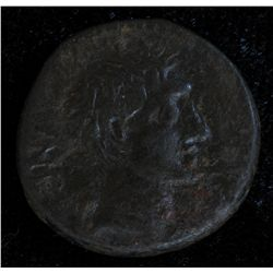 Chalkis Zenodorus (30-20 BC) - AE-20 Coele-Syria Obv: Bare hd. of Octavian r., partial legend Rev: B
