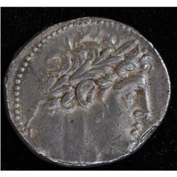 Tyre Shekel (100 BC) - Obv: Laureate bust of Melqart right / TVPOV IEPAS KAI ASULOY Rev: Eagle with