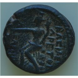 Kingdom of Nabataea Damascus (87-62 BC) - AE-19   Aretas III  Obv: Diad. hd. r. of Aretas Rev: City