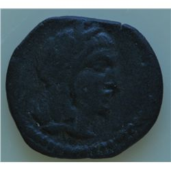Petra (30-9 BC) - AE-18  Obadas III  Obv: Laur. hd. r. Rev: Goddess advancing l. arm raised, 3.7 gra