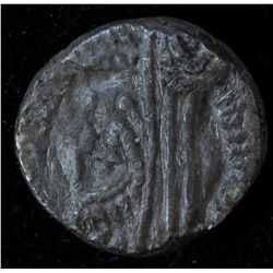 Petra (71-106 AD) - AR-14 Rabbel II Obv: Laur. bust  r., Aramaic legend. Rev: Veiled and dr. bust of