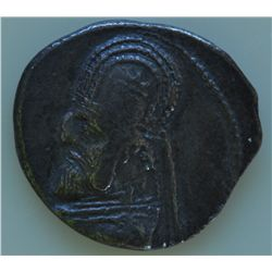 Orodes I (90-80 BC)       - AR-Drachm Obv: Diad. and   cuir. hd. l. Rev: Archer on the   throne hold