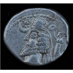 Phraates IV (38-2 BC)       - AR-Drachm  Obv: Diad. and cuir. bust l. Nike and wreath r., Star and c