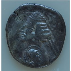 Phraates IV (38-2 BC) - AR-Drachm  Sakaraukae Imitation of AR-Drachm. Purchased at CNG #36 auction,