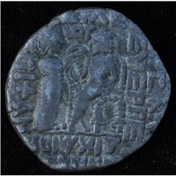Vardanes II (55-58 AD) - Billon-Tetradrachm Diad. bare hd l. , short beard. Rev: King enthroned l. w