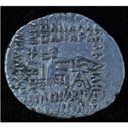 Pakoros (78-105 AD) - AR-Drachm Ecbatana mint Obv: cuir.bust l. with pointed beard , wearing diad. t