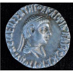 Apollodotos II (110-80 BC) - AR-Drachm  Taxila Obv: Diad. and dr. bust r. Rev: Athena advancing l, w