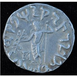 Vonones  w/Spalagadames (90-65 BC) - AR-Tetradrachm Gazni Mint Obv: King on horseback r. spear Rev: