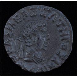 Hermaios (40-1 BC) - AR-Tetradrachm  Obv: diad. and dr.  bust r.  Rev: Zeus enthroned l.  with Karos
