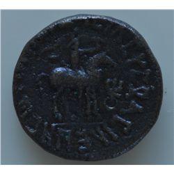 Kushan Vima Takto (55-105 AD) - AE-Tetradrachm  Obv: Diad. and radiate (11 rays) bust of king right,