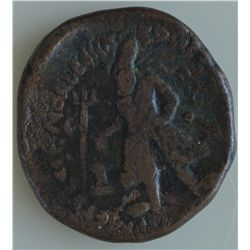 Kushan Vima Kadphises (112-127 AD) - AE-Tetradrachm Obv: King standing l., altar and trident on l.;
