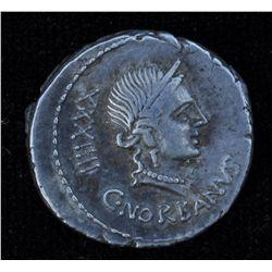 C.Norbanus  (83BC) - AR-Denarius Obv: Diad. head of Venus r.,  control number XXXIIII, C NORBANVS be