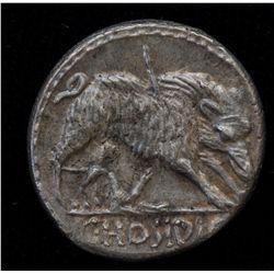 C. Hosidius C.f. Geta  (68BC) - AR-Denarius Obv: Diad. and  dr. bust of Diana r., bow and quiver ove