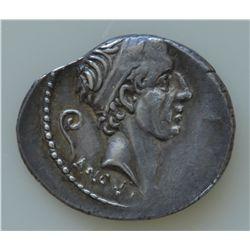 L. Marcius Philippus (56 BC) - AR-Denarius Obv: Diad. head of King Ancus Marcius r., lituus behind,