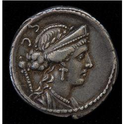 Faustus Cornelius Sulla (56 BC)                  - AR-Denarius Obv: Laud. Diad. and dr. bust of Venu