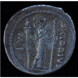 P.Clodius M.f. (42 BC) - AR-Denarius Obv: Laur. Head of Apollo r., lyre behind. Rev: Diana Lucifera