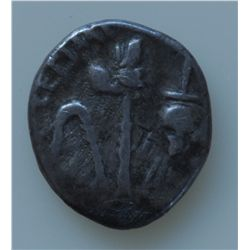 Mark Antony and Lepidus  (June 43 BC) - AR-Quinarius Obv: M ANT IMP (ANT in monogram) lituus, capis