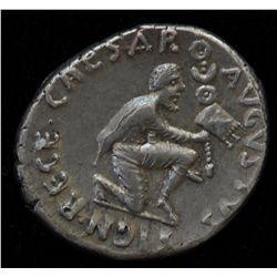 Augustus (27 BC - 14 AD) - AR-Denarius  Rome 19 BC. Obv: Diad. and dr. bust of Feronia r., TVRPILIAN