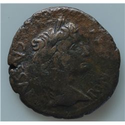 Augustus (27 BC - 14 AD) - AE-As  Lugdunum, 10-6 BC Obv: Bare head with laurel wreath r., CAESAR PON