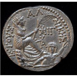 Augustus (27 BC - 14 AD) - AR-Tetradrachm  Antioch, 1 BC-1 AD. Obv: Laur. head of Augustus r., fille