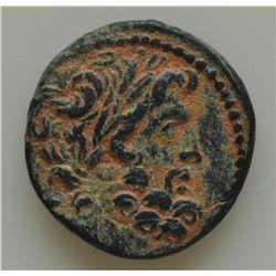 Augustus (27 BC - 14 AD) - AE-20 Antioch, Syria  Obv: Laur. Head of Zeus r. Rev: Ram jumping r., loo