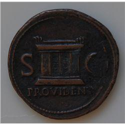 Tiberius (14 - 37 AD) - AE-As Rome, 22-30 AD Obv: Rad.hd. of Augustus  L., DIVVS AVGVSTVS PATER. Obv