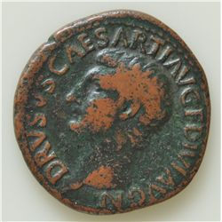 Drusus Under Tiberius (23 AD) - AE-As  Rome Obv: Bare head of Drusus l., DRVSVS CAESAR TI AVG F DIVI
