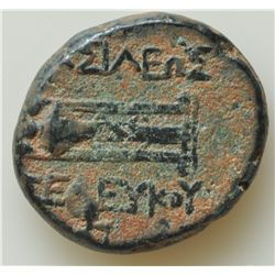 Tiberius (14-37 AD) - AE-20 Seleucia, Syria  RPC-4332 and AE-16 Parium, Mysia RPC 1657 . Both coins