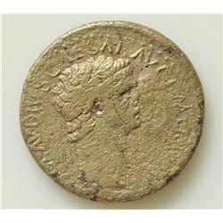 Claudius  (41-54 AD) - Nero AE-Sestertius  Rome Obv: Laur. hd, of Claudius r,. TI CLAVDIVS CAESAR AV