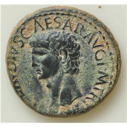 Claudius  (41-54 AD) - AE-As Rome 41-42 AD. Obv: Bare hd,  of Claudius l.,  TI CLAVDIVS CAESAR AVG P