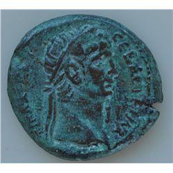 Claudius  (41-54 AD)  - Roman Egypt Alexandria. AE-26. Obv: Laur. hd. r., with L I  TIB KLAY KAI CEB