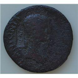 Claudius With Antonia (41-54 AD) - AE-Dupondius   Rome 41-42 AD.  Obv: Antonia r., bare headed   ANT