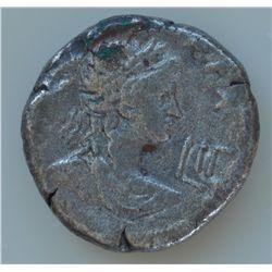 Nero (54 - 68 AD) - Egypt AR-Tetradrachm 67-68 AD. Obv: Rad. bust of Nero r. Obv: Laur. bust of Apol