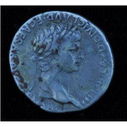 Nero With Agrippina Junior  (54-68 AD) - Caesarea in Cappadocia. AR- Diadrachm  58-59 AD. Obv:Laur.