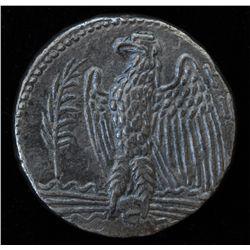 Nero (54-68 AD) -  Antioch AR-Tetradrachm Syria  Obv: Laur. hd. of Nero r. Rev: Eagle stg. l., palm