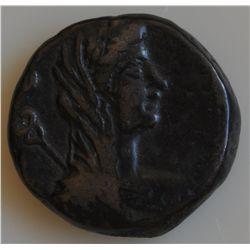 Otho (69 AD) - Egypt Tetradrachm Obv: Laur. hd. r. Rev: veiled and draped bust of  Eirene  with cadu