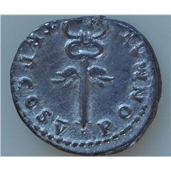Vespasian (69-79 AD) - Rome AR-Denarius 74 AD. Obv: Laur. hd. r., IMP CAESAR VESPANIANVS AVG Rev: Wi