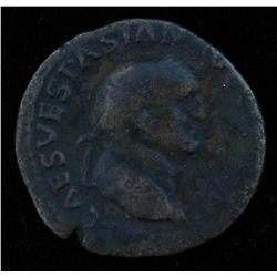 Vespasian (69-79 AD) - AE-As  Rome 71 AD. Obv: Laur. hd. r., IMP CAES VESPASIAN AVG COS III  Rev: Ju