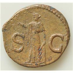Titus (79-81 AD) - AE-As Rome 80 AD.  Obv: Laur. hd. l., IMP T CAES VESP AVG P M TR P COS VIII Rev: