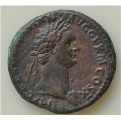 Domitian (81-96 AD) - Two AE-As coins of Domitian S-2807 and S-2808. VF, 2 Pcs.