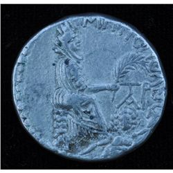 Domitian (81-96 AD) - AR -Tetradrachm Tarsus Obv: Laur. hd. r. Rev: Tyche of Tarsus seated right on