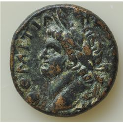 Domitian (81-96 AD) - AE-21 Antioch, Syria Obv:  Laur. hd. r.  DOMITIANVS CAESAR  Rev: Large S C  in
