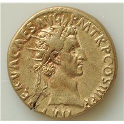 Nerva (96-98 AD) - Brass-Dupondius Rome 97 AD. Obv: Radiate head  r. IMP NERVA CAES AVG PM TR P COS
