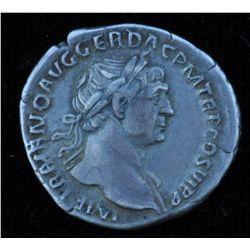 Trajan (98-117 AD) - AR-Denarius   Rome 114 AD. Obv: Laur. hd. r. IMP TRAIANO AVG GER DAC PM TR P CO