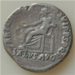Trajan (98-117 AD) - AR-Denarius   Rome 116 AD.  Obv: Laur. hd.  r. IMP CAES NER TRAIAN OPTIM AVG GE