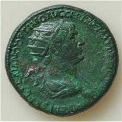Trajan (98-117 AD) - AE-Dupondius  Rome  Obv:  Radiated hd., r. IMP CAES NERVAE TRAIANO AVG GER DAC