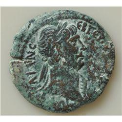 Trajan (98-117 AD) - Alexandria AE-Drachm 33mm Obv: Laur. hd. r. Rev: Nilis l. reclining holding ree