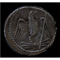 Juba II & Cleopatra Selene (25 BC-23 AD) - AR-Denarius  Obv: Laur. hd. of Juba II r.  REX IVBA Rev: